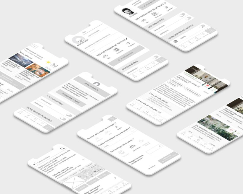 Wireframes version mobile
