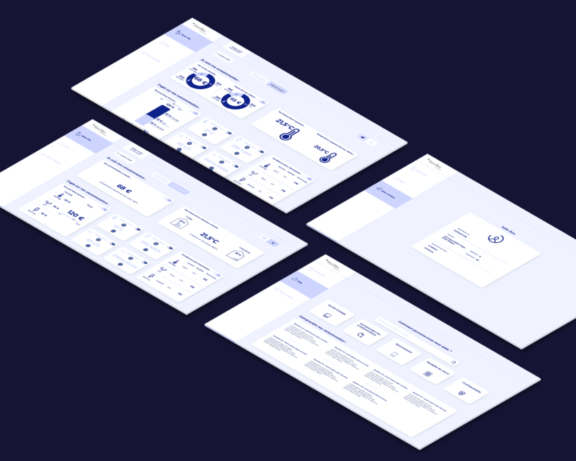 wireframes de l'interface locataires