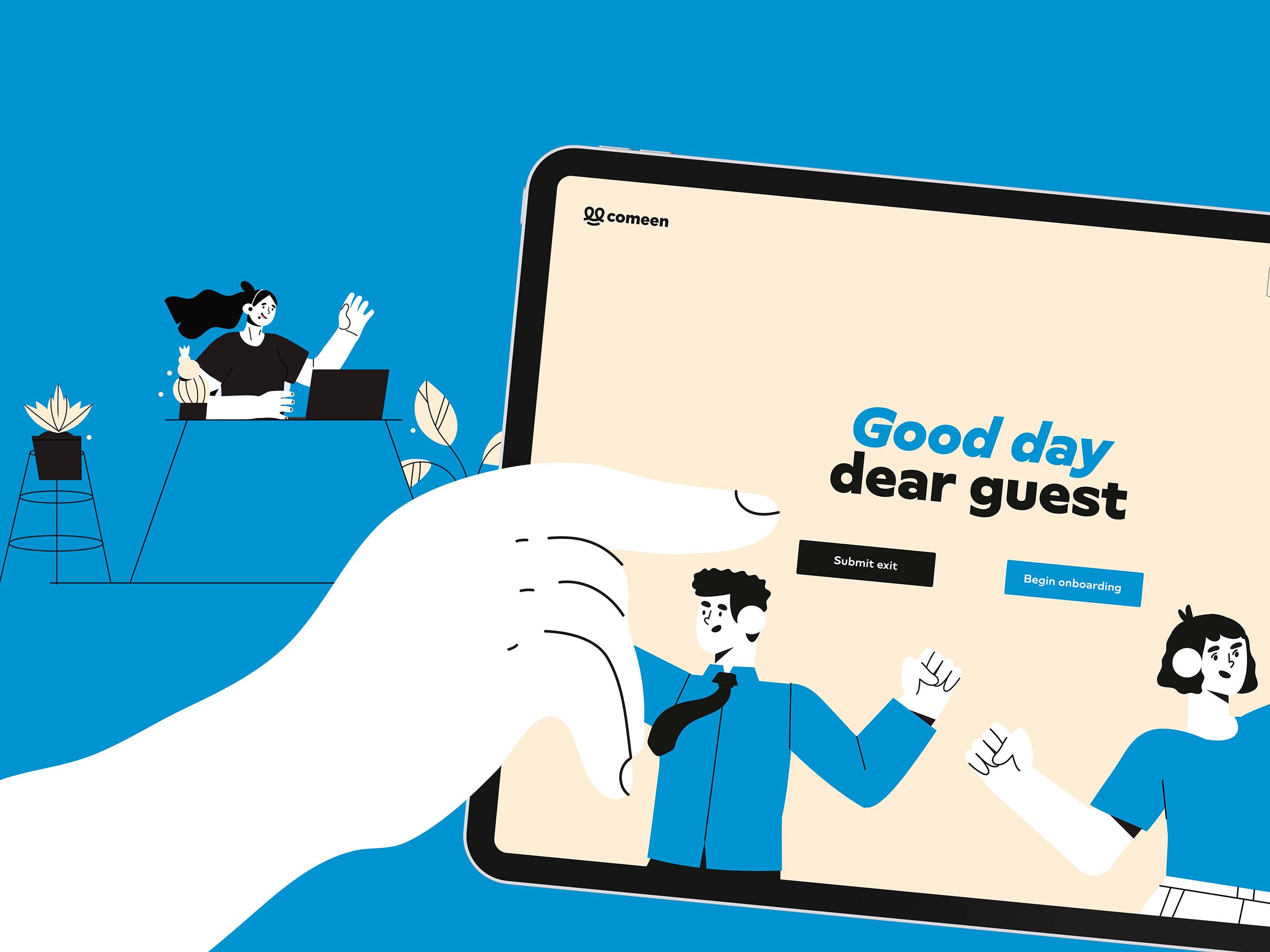 Identité visuelle et UI design d'une solution d'accueil digitalisé des visiteurs en entreprise